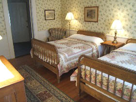 Wellfleet MA accommodations  Room 24, second floor Captains House, Two Double Beds and Private Bath