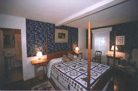 Wellfleet MA Inn at Duck Creek accommodations in a Queen, corner room, second floor, view of pond, Room 25