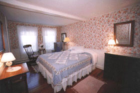 Wellfleet MA  Bed and Breakfast lodging with Queen bed, view of pond, second floor, Room 27